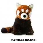 Peluches de pandas rojos