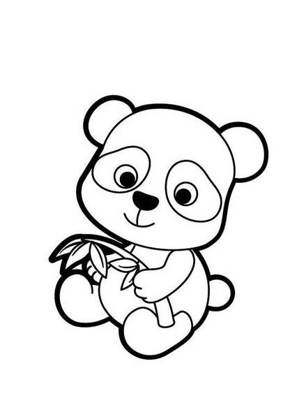 Panda Imagenes De Animales Kawaii Para Colorear Imagen Para Colorear