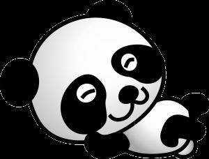 panda bebe dibujo kawaii